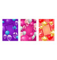 ballooon frame celebrating birthday party vector image