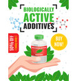 biological active additives advertising poster vector image