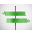 Blank green metal arrow boards vector image vector image
