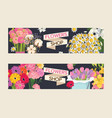 bouquet beautiful floral backdrop with vector image vector image