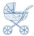 Boy baby carriage vector image vector image