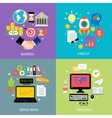 Business types concept flat vector image