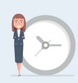 business woman manager or employee stand leaning vector image