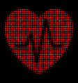 cardiology halftone icon vector image