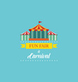 carnival funfair and amusement park banner vector image vector image