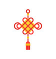 chinese traditional decorative knots icon vector image vector image