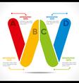 creative alphabet W info-graphics design concept vector image vector image