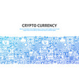 crypto currency concept vector image vector image