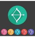 Cupid love bow flat icon web sign symbol logo vector image vector image