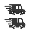 delivery cargo car icons set on white background vector image vector image