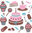 Desserts and sweets icon vector image vector image
