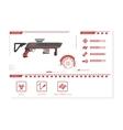 Details of gun rifle Game perks vector image vector image