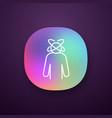 dizziness app icon vector image vector image