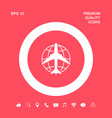 earth and airplane logo graphic elements for your vector image vector image