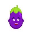 eggplant happy emotion avatar purple vegetable vector image vector image
