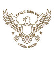 emblem template with eagle in golden style design vector image vector image