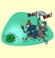 england victory over coronavirus epidemic covid19 vector image vector image