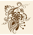 Ethnic mehndi floral pattern vector | Price: 1 Credit (USD $1)