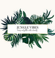 exotic tropical leaves set on vertical wedding vector image