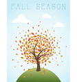Fall season vintage global composition EPS10 file vector image vector image