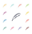 feather flat icons set vector image