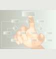 flowchart and hand vector image vector image