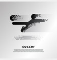flying kick soccer player flat abstract soccer vector image