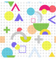geometric figures abstract technical seamless vector image