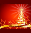 golden film strip christmas tree vector image