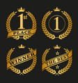 golden laurel wreath set vector image