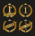 golden laurel wreath set vector image vector image