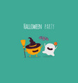 halloween characters icon set vector image vector image