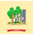 happy family with cotton vector image vector image