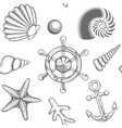 hatched drawing sea seamless pattern vector image