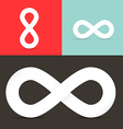 Infinity Symbols Set on Retro Background vector image vector image