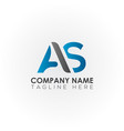 initial as letter logo with creative modern vector image vector image