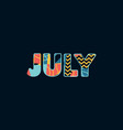 july concept word art vector image vector image