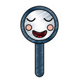 kawaii cute funny magnifying glass vector image