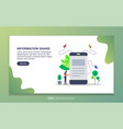 landing page template information share modern vector image