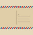 letters and postmarks airmail designs vector image