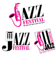 logo of Jazz festival vector image
