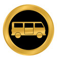 minibus button on white vector image vector image