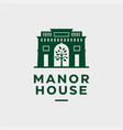modern professional logo manor house in green vector image