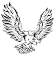 Monochrome Eagle During Landing vector image vector image