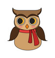 owl with scarf icon image vector image vector image