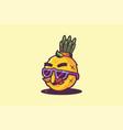 pineapple tropical fruit pop art vector image vector image