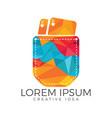 pocket and cards logo design vector image