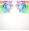 rainbow watercolor painted flowers on white vector image vector image
