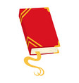 red book icon notebook with bookmark vector image vector image