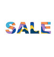 sale text background vector image